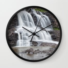Lower Gooseberry Falls in Minnesota Wall Clock