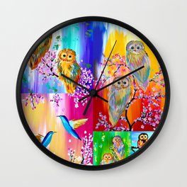 Rainbows Wall Clock