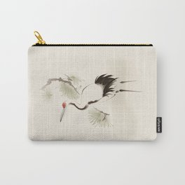 Oriental Red-Crowned Crane 002 Carry-All Pouch