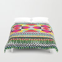 ethnic Duvet Covers featuring Ethnic by Maria Blanco