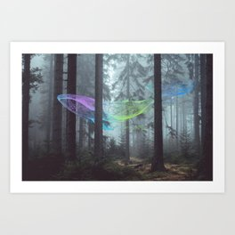Whale Music in the Forest Art Print