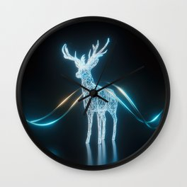 Lighten Deer Wall Clock