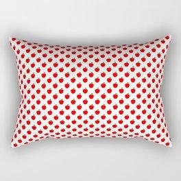 Red Apple Fruit Food Pattern Rectangular Pillow