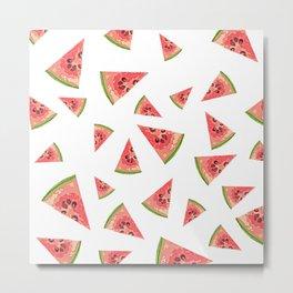Fresh Watermelon pattern Metal Print