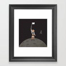 He-Man on the Moon Framed Art Print