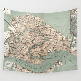 Map of Venice - 1886 Wall Tapestry