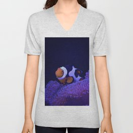 Clownfish at Home Unisex V-Neck