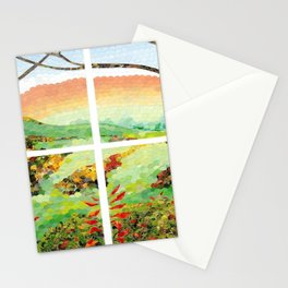 Window Pane Stationery Cards