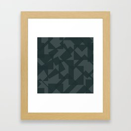 grey pattern // geometric Framed Art Print