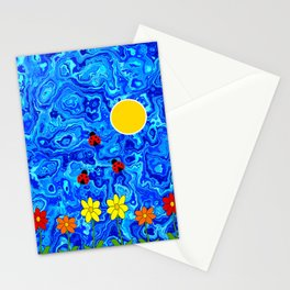Blue Sky Summers Day Stationery Cards