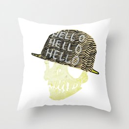 hell[o] Throw Pillow