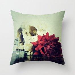 Vanitas Blood Red R Throw Pillow