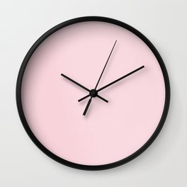 BLUSH PINK COTTON CANDY SOLID COLOR Wall Clock