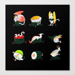 Sushi Dragons Canvas Print