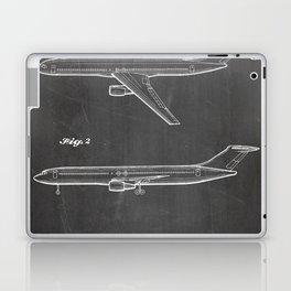 Boeing 777 Airliner Patent - 777 Airplane Art - Black Chalkboard Laptop & iPad Skin