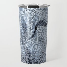 Blue Digital art Abstract Travel Mug