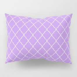 Moroccan Trellis, Latticework - Purple White Pillow Sham