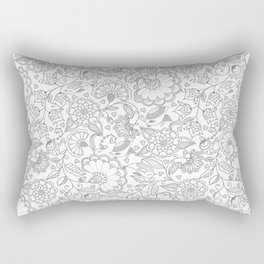 Fly EYES - Patterns GRAY - flowers, floral Rectangular Pillow