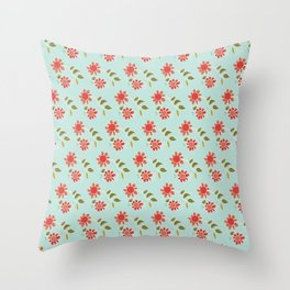 folk flower Throw Pillow