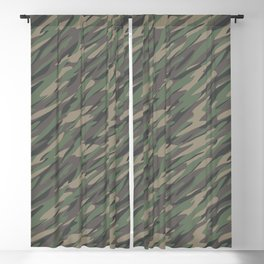 Forest / Jungle Camouflage Abstract Pattern Illustration Blackout Curtain