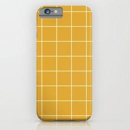 Yellow Mustard #9 Grid Pattern Line Stripe Minimalist Geometric Stripes Lines Spring Summer iPhone Case