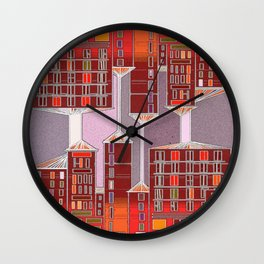 Colored windows Wall Clock