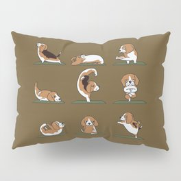 Beagle Yoga Pillow Sham