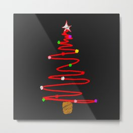 Blackboard Tree Metal Print