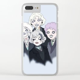 Gothic Girls Clear iPhone Case
