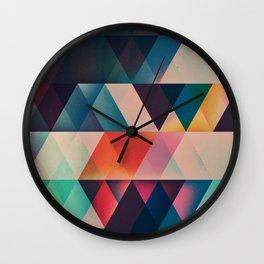 Geometric Abstract: jyst ynyff Wall Clock