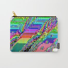 Equatorial Rainbow (Glitch Art / Pixel) Carry-All Pouch