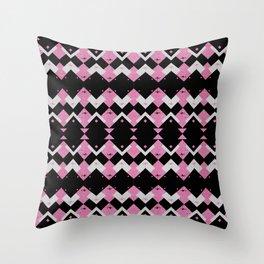 Pink Flamingos Art Deco Pattern Throw Pillow