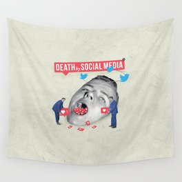Death by Social Media Wall Tapestry