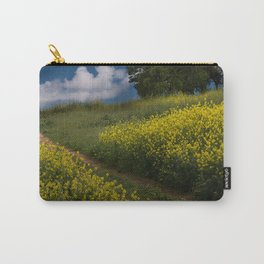 Almaden Meadows' Mustard Blossoms Carry-All Pouch