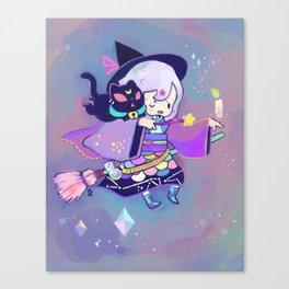 kuri witch Canvas Print