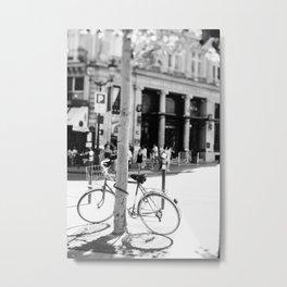 Paris Bicycle Metal Print