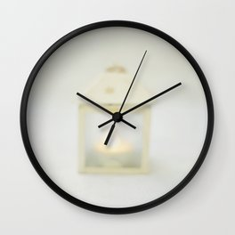 I've always been here, lost in your white blizzard Wall Clock