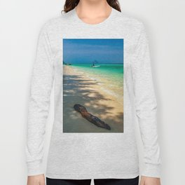 Driftwood On The Beach Long Sleeve T-shirt