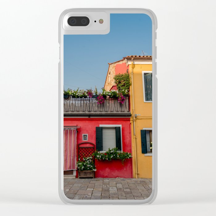 Colourful Neighbours, Burano Italy Clear iPhone Case