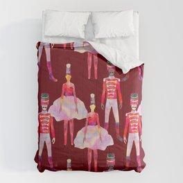 Nutcracker Ballet - Berry Red Comforters