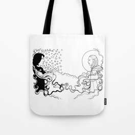 Reylo Sun and the Moon and the Stars Tote Bag