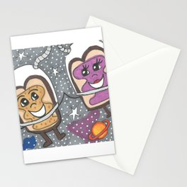 PB & J in space Stationery Cards