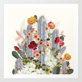 Cacti Deja Art Print