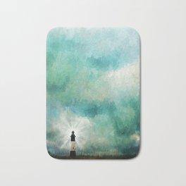 Tybee Island Lighthouse Painting Bath Mat