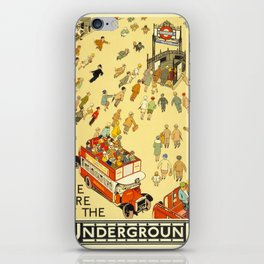 Vintage poster - London Underground iPhone Skin
