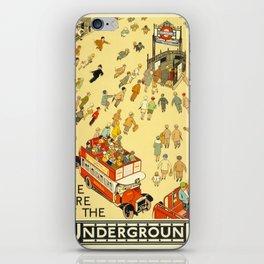 Vintage poster - London Underground iPhone Skin