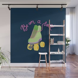 Be On A Roll (Navy Background) Wall Mural