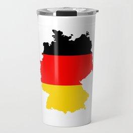 germany flag map Travel Mug