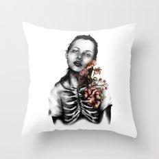 Heartbeats // Illustration Throw Pillow