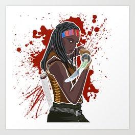 Michonne (The Walking Dead) Art Print